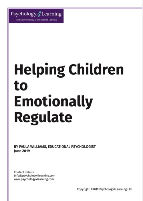 Helping children to emotionally regulate